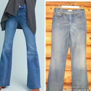 Anthropologie Cloth Stone High Rise Flare Jeans